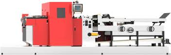 Edales FDC-510 web-fed flatbed die cutting machine, ideal solution, converting conventional, digitally printed products, require cutting, creasing, braille embossing