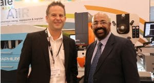 Luthra with James Boughton, managing director, Edale flexo press