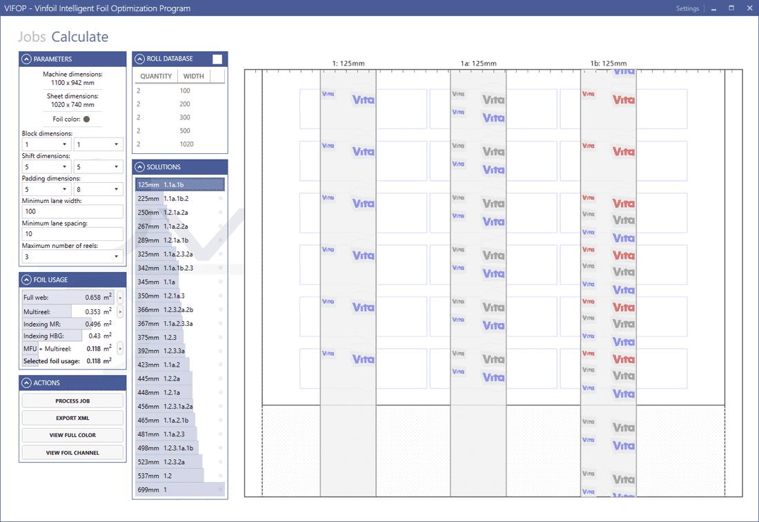 Vifop Software Vinfoil Intelligent Foil Optimizing