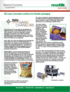 SEI Laser Flexible Packaging