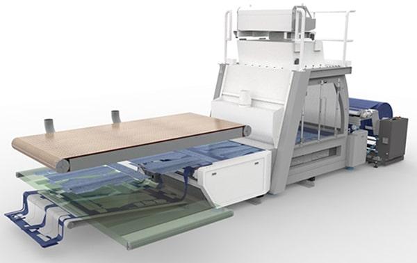 Laser Machine for Textile Roll Processing, SEI Laser Matrix Textile